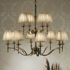 stanford brass 12 light chandelier beige modern classic traditional large chandelier ca1p12bw