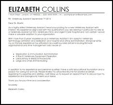 Cover Letter Veterinary Assistant Letters Font