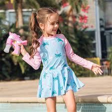 <b>Long</b> Sleeve One Piece <b>Swimsuit Girls</b> Print <b>Children Swimwear</b> ...