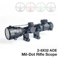 <b>2</b>-<b>6x32 AOE</b> Jagd Grün Red Dot beleuchtet Taktische Gitternetz ...