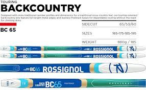 Rossignol Bc 65 Size Chart Rossignol Bc 65 Xc Skis Mens