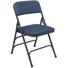 vinyl folding chairs. National Public Seating 1300 Series Premium Triple Brace Folding Chair - Set Of 4 Midnight Vinyl Chairs T