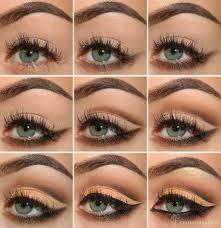mellow brown cut crease eye makeup tutorial