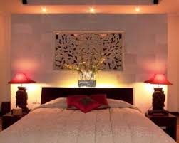 white natural stone on wall decoration of home bedroom with dark brown wooden bedstead headboard bedroom headboard lighting