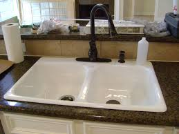24 White Granite Kitchen Sink 33quot Fayette Double Bowl Drop In