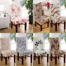 1 4 6pcs removable stretch elastic slipcovers dining room stool chair seat cover