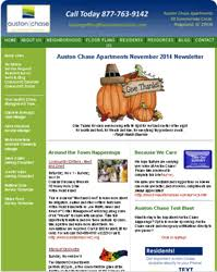 october newsletter ideas auston chase apartment homes newsletter archives