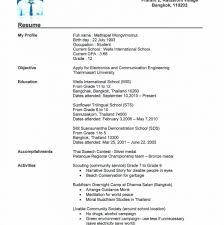 Resume It Student Sample College Philippines Objective Samples