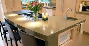 concrete kitchen countertop and island by chris stollery concrete exchange