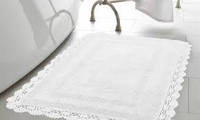 laura ashley reversible crochet 100 cotton bath rugs 1 or 2 pack