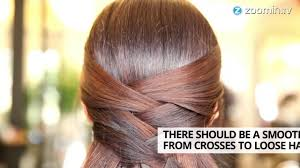 60 Hair Style hair styles crisscross half updo how to in 60 seconds youtube 2867 by wearticles.com