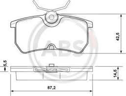 <b>Тормозные колодки дисковые ABS</b> 37101 от 763 р., купить со ...