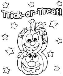 Happy Halloween Coloring Pages Trick Or Treat Coloringstar