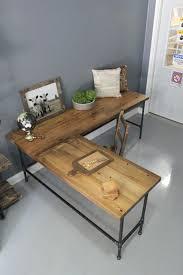 Office Reclaimed Furniture L Shaped Desk Wood Desk Pipe Desk
