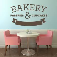 Wall Art For Kitchen Wall Decals Cupcakes Cafe Kitchen Wall Art Decal Wall