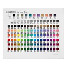 Zazzle Colors A Hex Codes Reference Chart