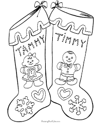 Small Picture Free Christmas Stocking Coloring Pages 004