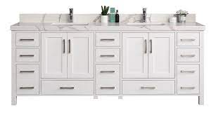 Willow Collections 84 In W X 22 In D Double Basin Vanity In White With 5 Cm Calacatta Quartz Willow Bathroom Vanity