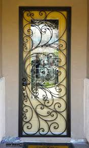 Example of Wrought Iron Security Door, by Artistic Iron Works, Las ...