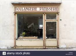 Abandoned French Bakery Pastry Shop Storefront With Boulangerie