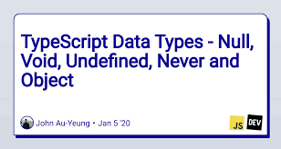 typescript data types null void