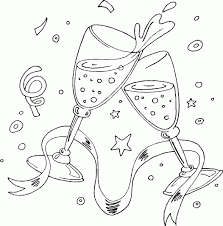 Champagne Toast Coloring Page Coloringcom My Coloring Pages