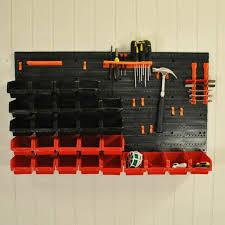 44 pcs wall mounted diy tool storage