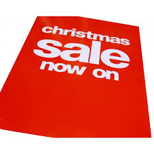 Christmas Sale Now On Christmas Sale Signs Posters 4 Pack