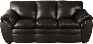 Black 100% Genuine Leather Sofa | The Brick throughout The Brick Leather  Sofa (Image