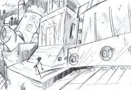 Random Background Rough Sketch by Poch4N on DeviantArt