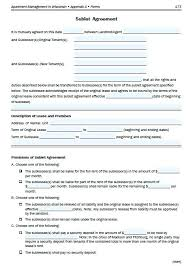 Sublease Agreement Template Apartment Form Lease Nj – Trufflr