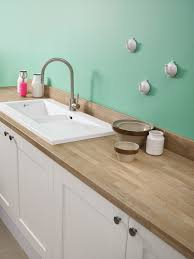 White Laminate Kitchen Worktops Bushboards Omega Natural Blocked Oak Worksurface And Upstand With
