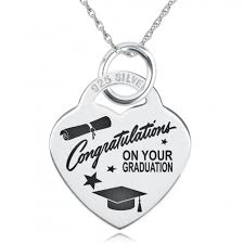 Congratulations On Your Graduation Necklace Personalised Sterling