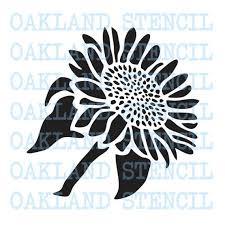 sunflower stencil side view 8 sizes 6