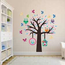 owl tree fabric wall sticker set