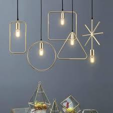 black and gold pendant light uk inside interior modern geometric hanging lights white red fab lighting