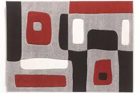 geo medium rug in red black grey by ashley
