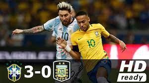 Brazil Vs Argentina ○ 3 - 0 ○ World ...