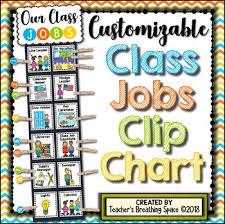 Helpers Chart Classroom Jobs Clip Chart Customizable Class Helper Chart