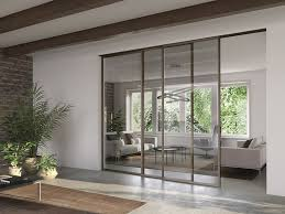 barausse centro 60 volta glass and aluminium sliding door