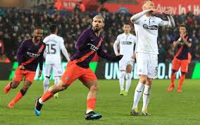 © provided by the independent. Sergio Aguero Comes Off The Bench To Score Twice As Man City Complete Controversial Comeback Against Swansea