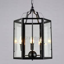 industrial cage light fixture glass shade loading zoom