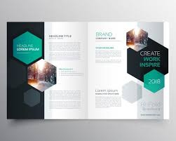 Pamphlet Template Free Brochure Template With Hexagonal Shapes Magazine World Design