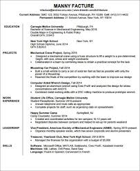 Entry Level Mechanical Engineering Resume Enchanting 48 Engineering Resume Templates In PDF Free Premium Templates