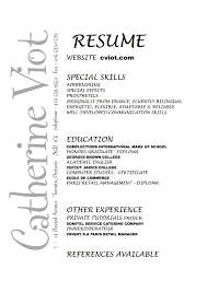 mac cosmetics resume