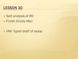 jon krakauer into the wild ppt video online  lesson 30 self analysis of rd finish grizzly man
