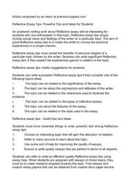 reflective essay tips powerful tips and ideas for students reflective essay tips powerful tips and ideas for students