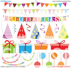 Decoration Stuff For Party Birthday Party Items Clipart Clipartfest Party Items Clipart