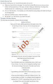 College Freshman Resume No Work Experience Free Resume Example