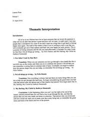 camping trip essay camping trip the first time i had gone to a  4 pages thematic interpretation loss of a loved one
